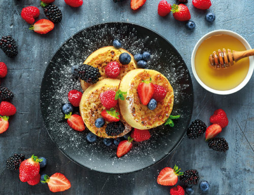 Organic fruit crumpets' recipe