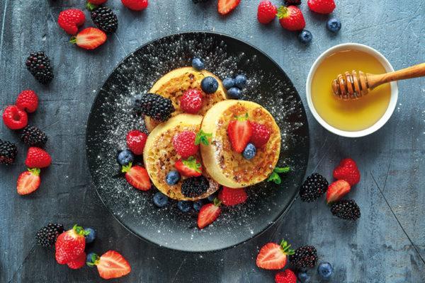 organic fruit crumpets