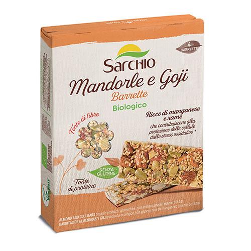 Organic almond and goji berry snack